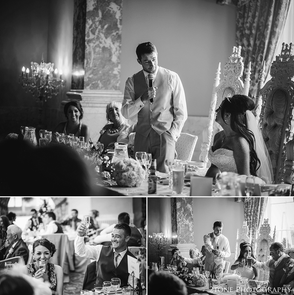 Groom's wedding speech in the ballroom at Wynyard Hall by Newcastle and Durham based Wedding Photographer www.2tonephotography.co.uk