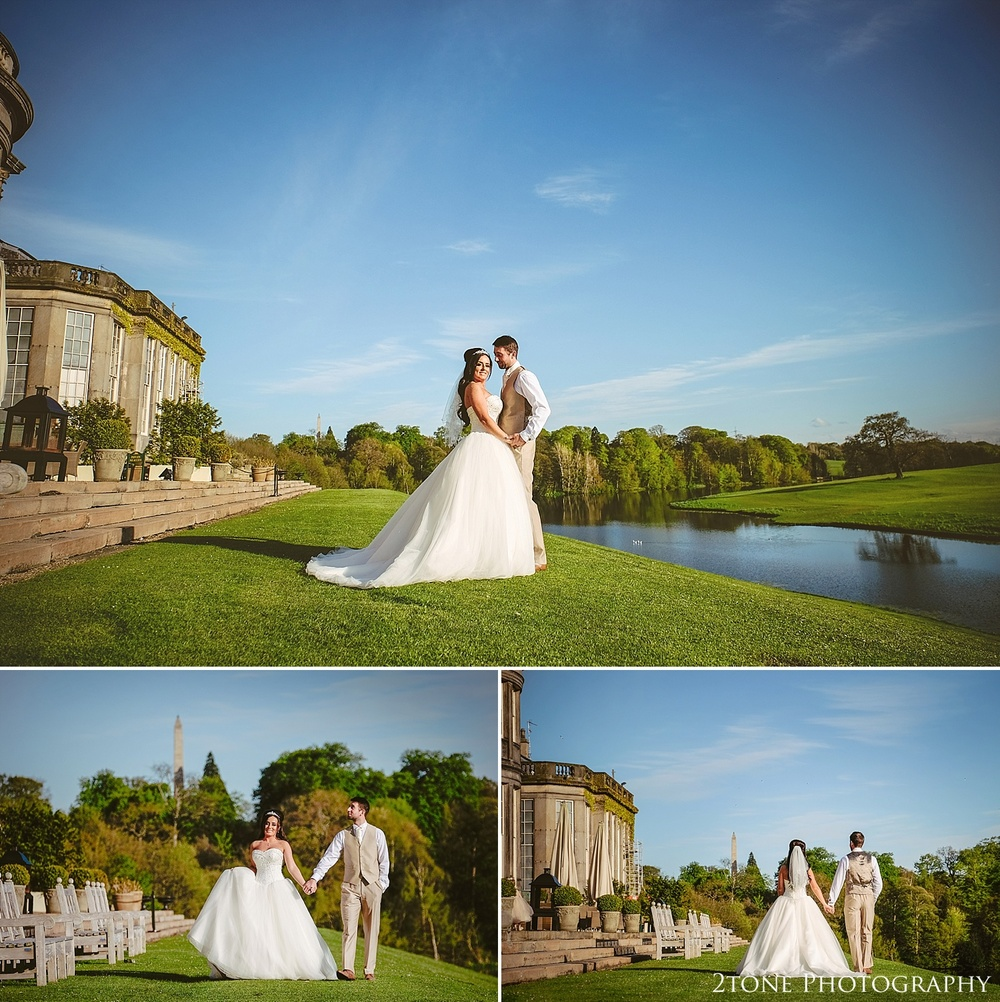 The lake at Wynyard Hall by Newcastle and Durham based Wedding Photographer www.2tonephotography.co.uk