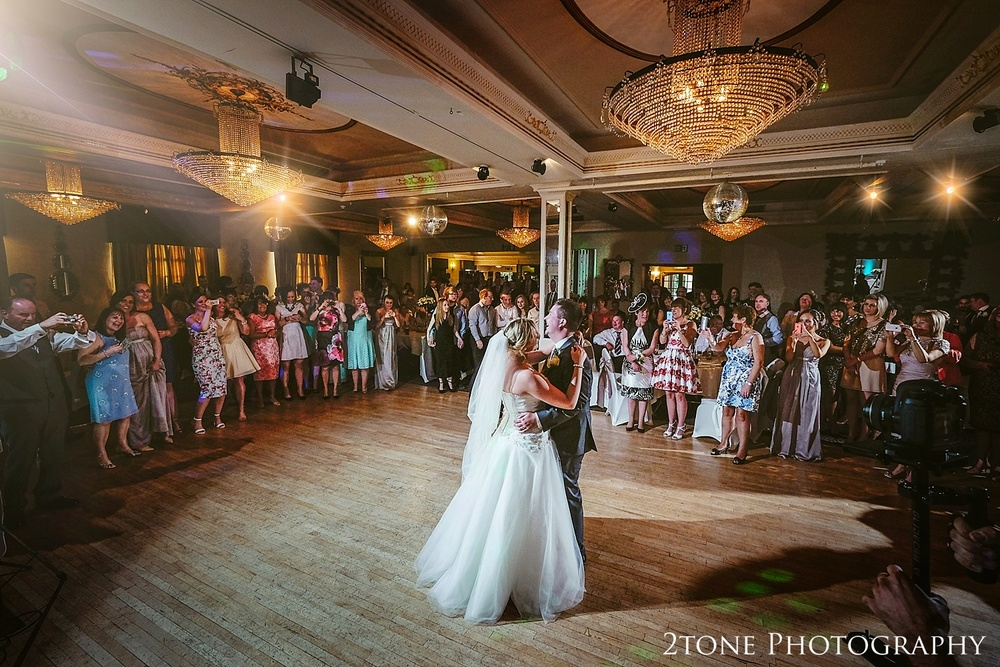 Documentary wedding photography in Durham.  The Ramside Hall Hotel.  First dance.   Wedding photography by husband and wife team www.2tonephotography.co.uk