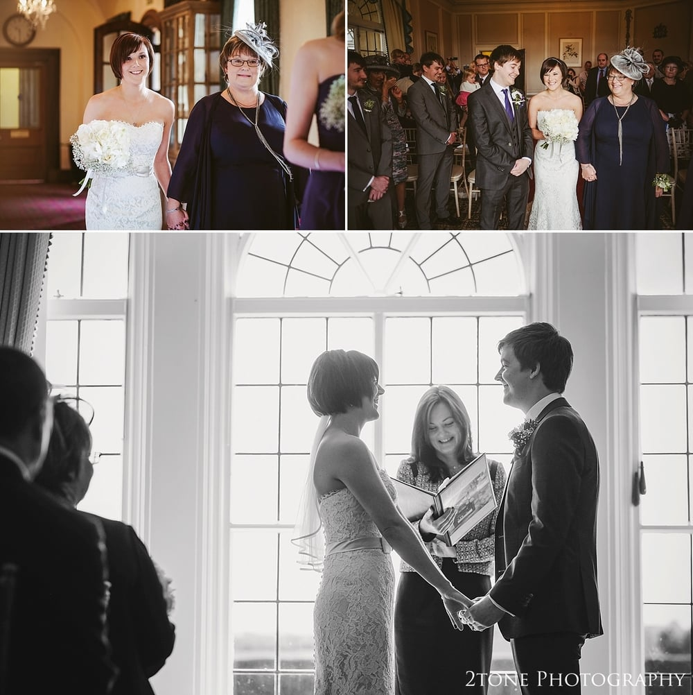 Wedding ceremony at Kirkley Hall.  North East Photography by 2tone Photographer