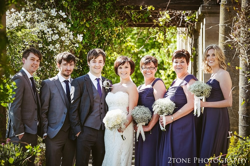 Bridal party photograph at Kirkley Hall.  2tone Photography