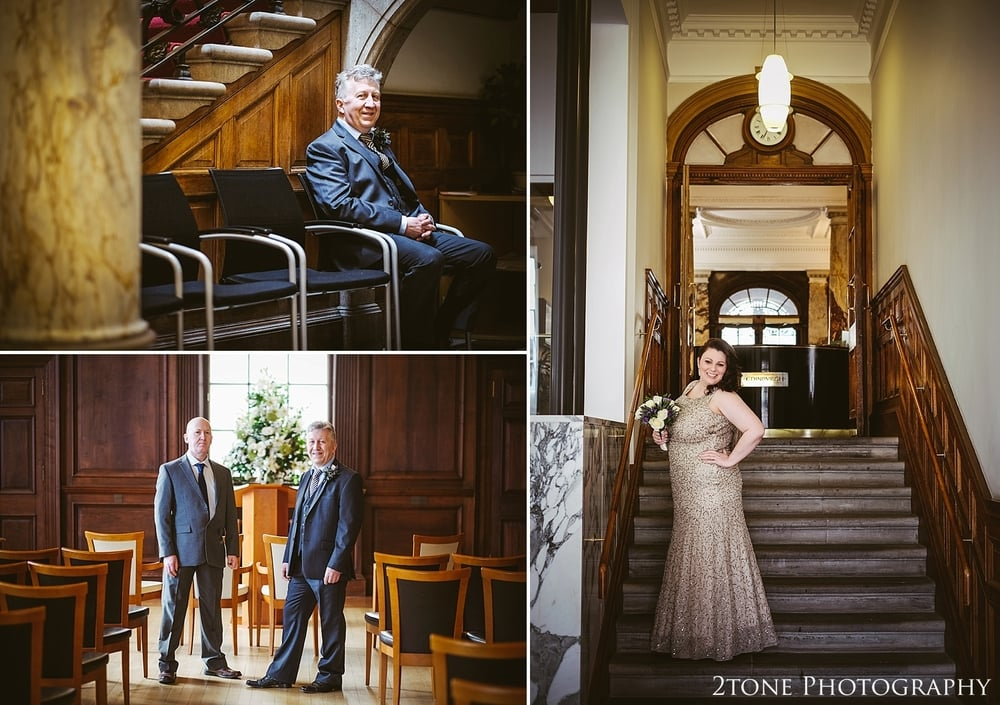 The gorgeous bride.  Wedding Photography at the Lothian Chambers in Edinburgh by 2tone Photography