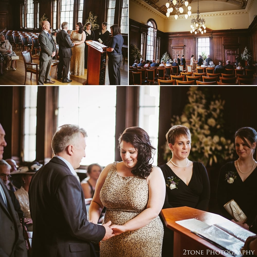 Wedding ceremony on the Royal Mile.  Wedding Photography at the Lothian Chambers in Edinburgh by 2tone Photography