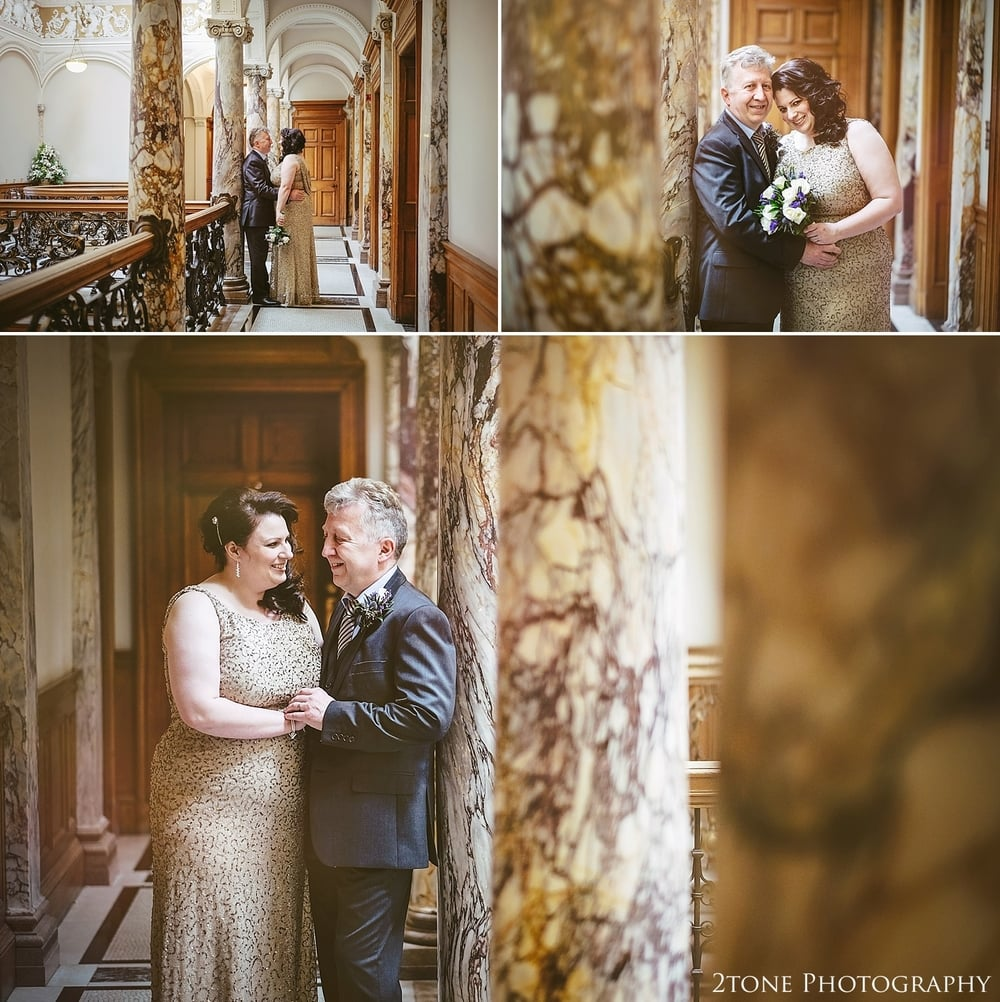 Natural portraits of the bride and groom.  Wedding Photography at the Lothian Chambers in Edinburgh by 2tone Photography