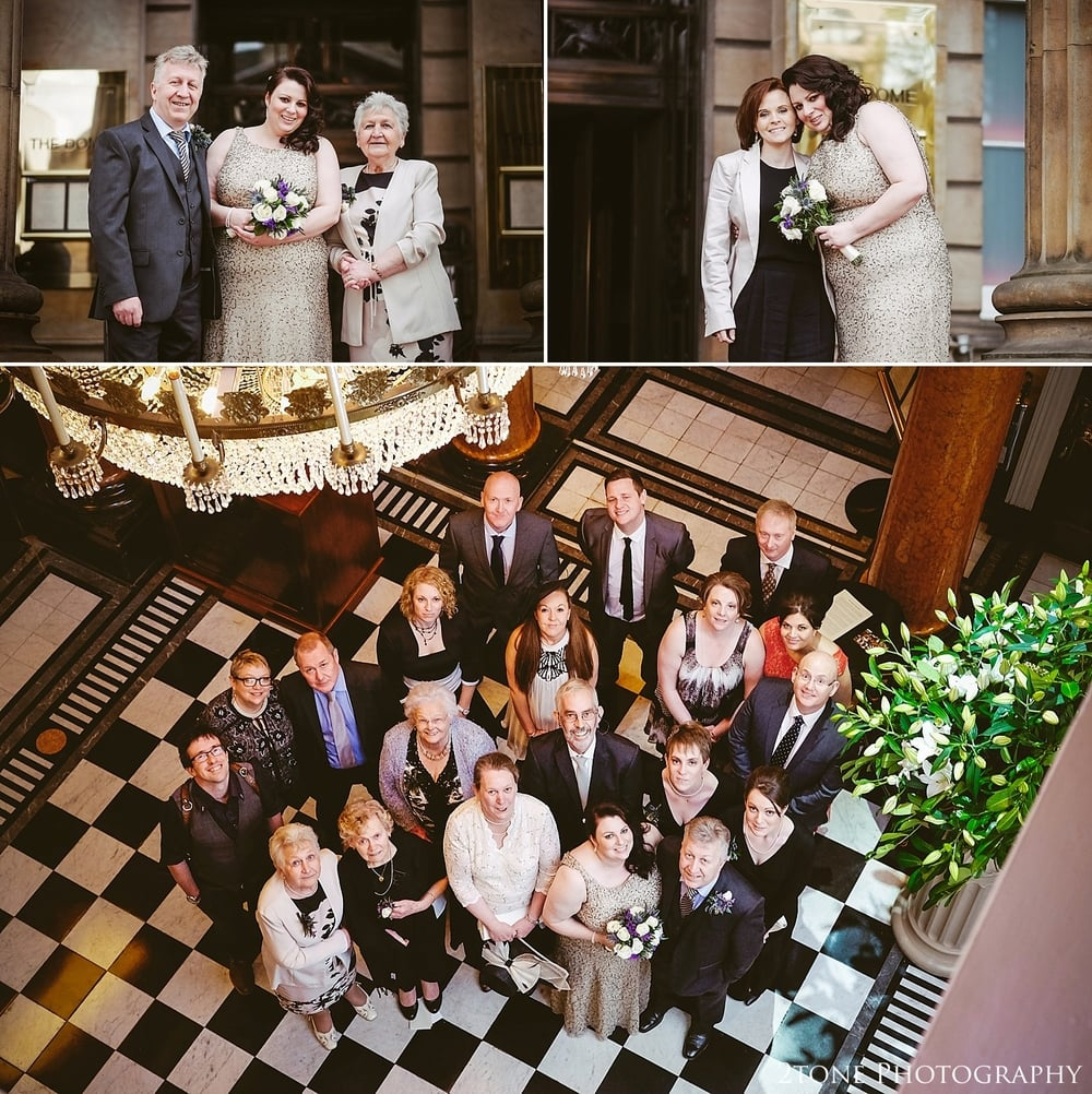 Wedding group shot in the Dome.  Photography by 2tone Photography