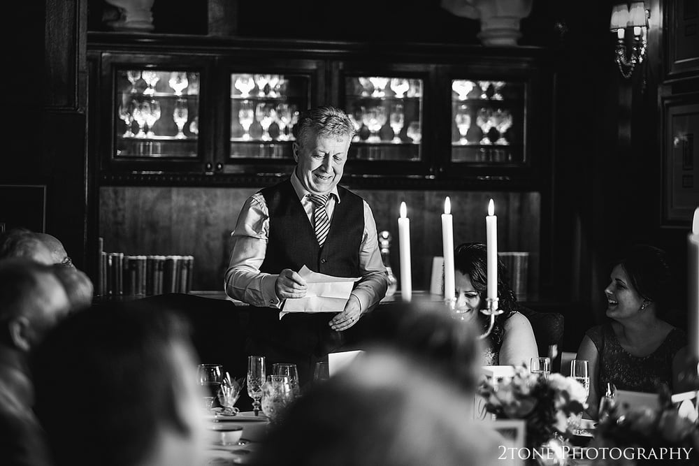 Groom;s speech in the Dome.  Photography by 2tone Photography