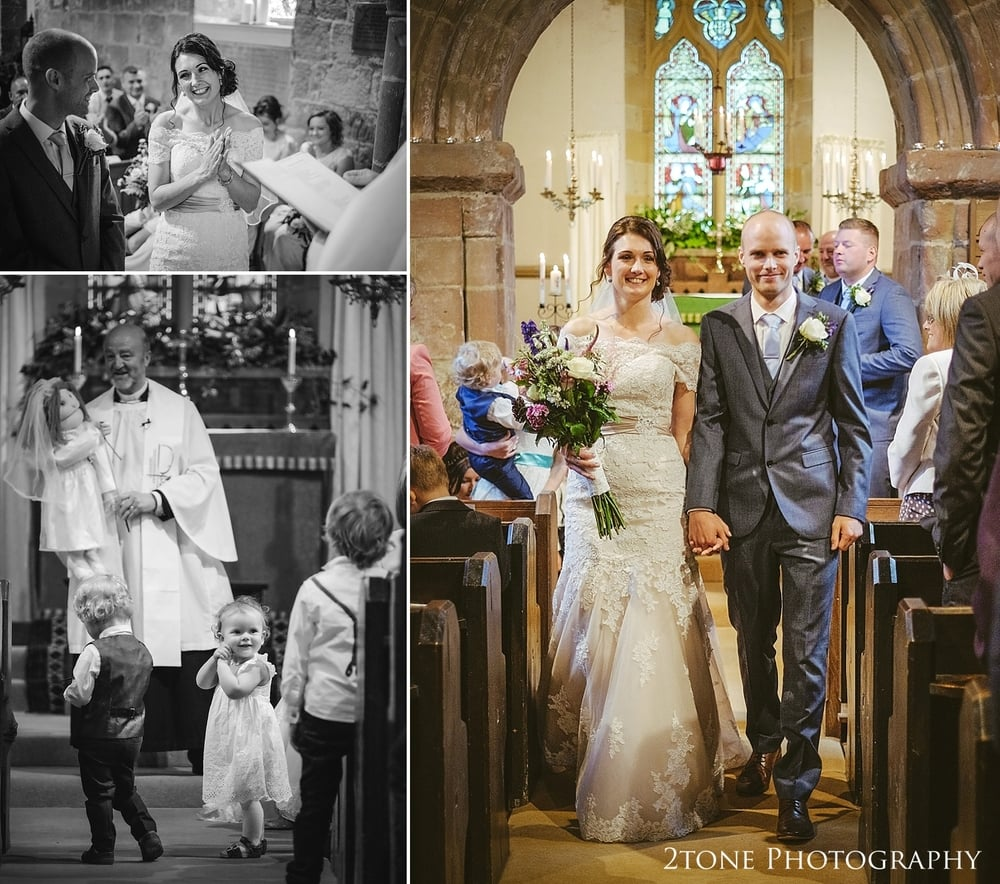 A wedding ceremony in St Oswin's Church in Newton Under Roseberry by 2tone photography www.2tonephotograpy.co.uk