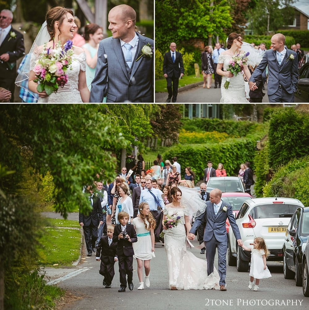Documentary wedding photography at St Oswin's Church in Newton Under Roseberry by 2tone photography www.2tonephotograpy.co.uk