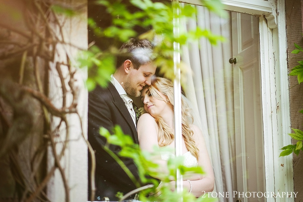 Bride and groom at Eshott Hall by www.2tonephotograhy.co.uk