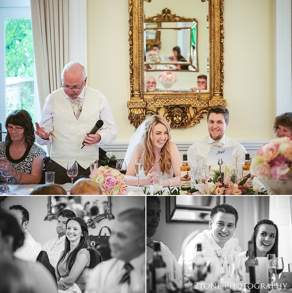 Wedding speeches at Eshott Hall by www.2tonephotograhy.co.uk