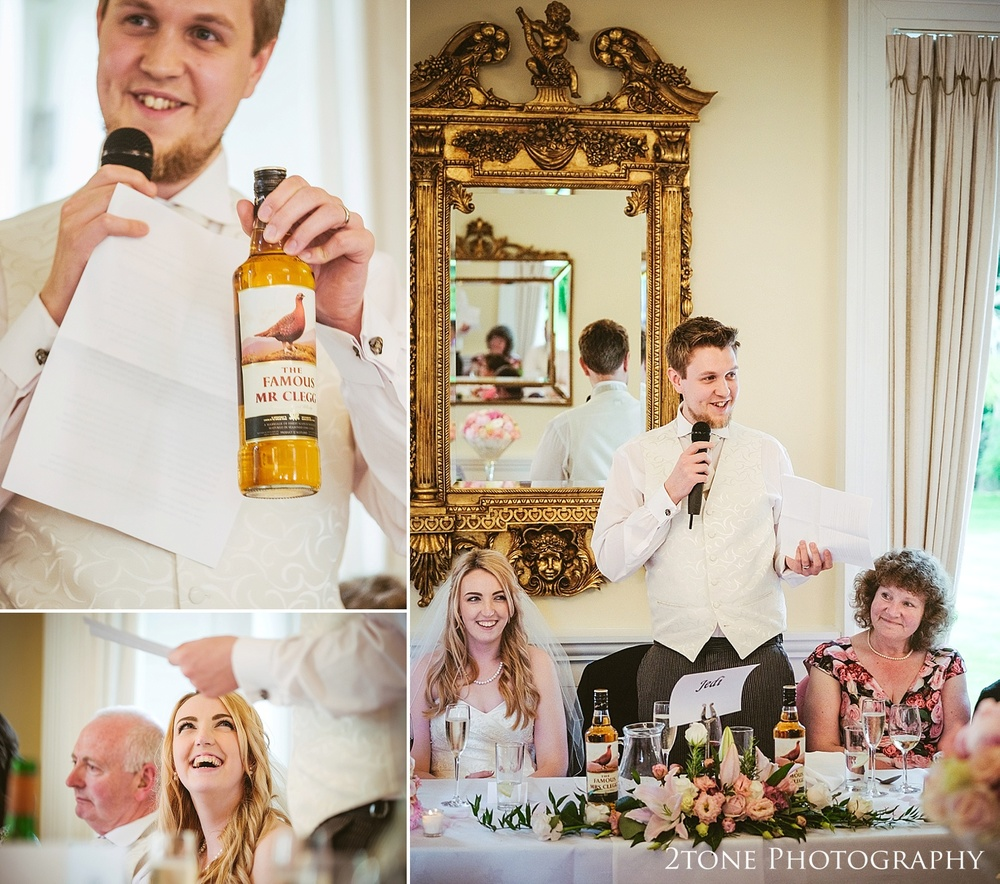 Wedding day speeches at Eshott Hall by www.2tonephotograhy.co.uk