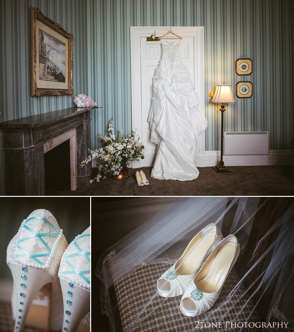 Wedding dress and details.  Wedding Photography at Wynyard Hall by 2tone Photography www.2tonephotography.co.uk
