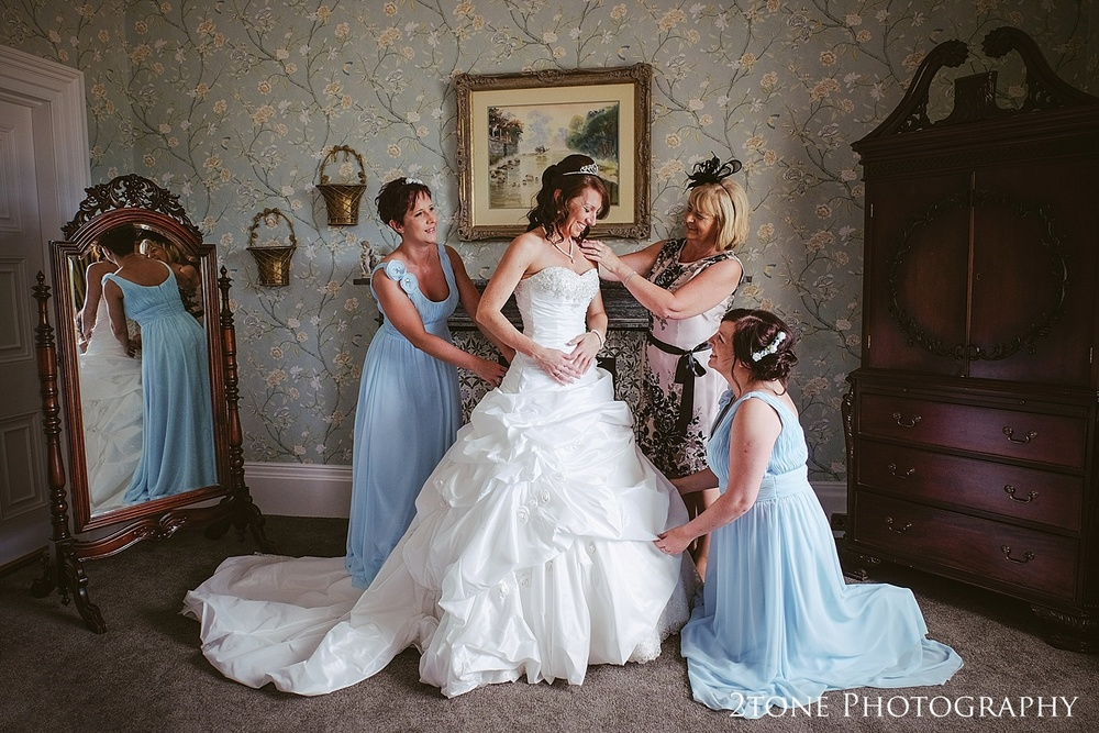 Bridal preparations.  Wedding Photography at Wynyard Hall by 2tone Photography www.2tonephotography.co.uk