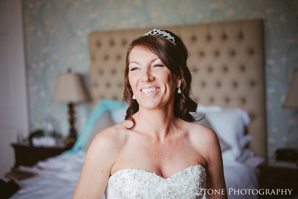 The bride.  Wedding Photography at Wynyard Hall by 2tone Photography www.2tonephotography.co.uk