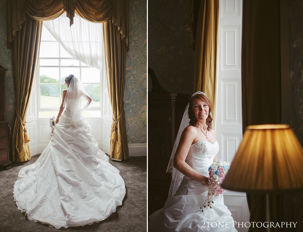 Bridal portraiture.  Wedding Photography at Wynyard Hall by 2tone Photography www.2tonephotography.co.uk