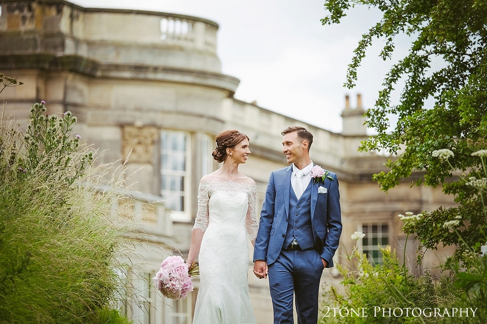 Wedding portraits at Wynyard Hall by Durham based wedding photographers www.2tonephotography.co.uk