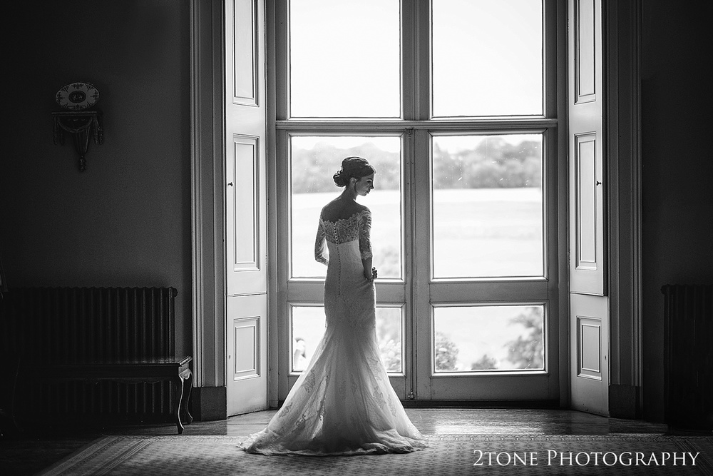 bridal wedding portraiture at Wynyard Hall by Durham based wedding photographers www.2tonephotography.co.uk