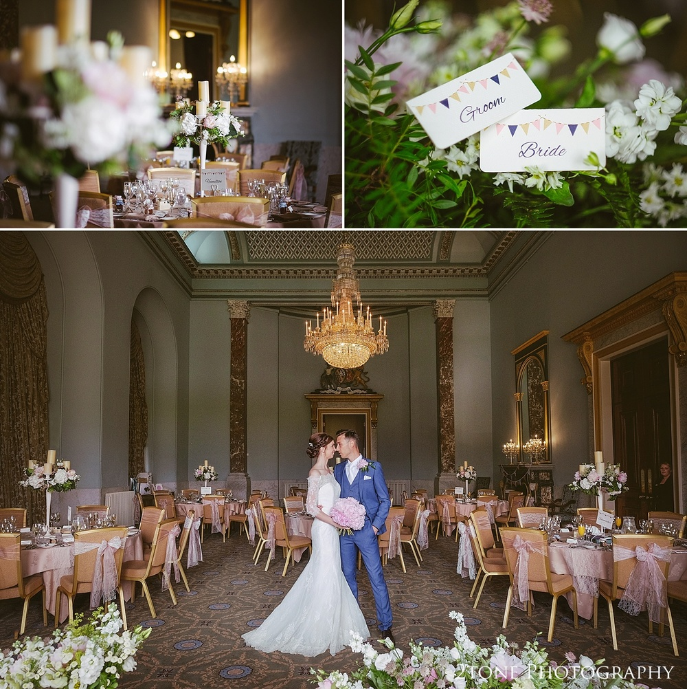 Wedding photography at Wynyard Hall by Durham based wedding photographers www.2tonephotography.co.uk