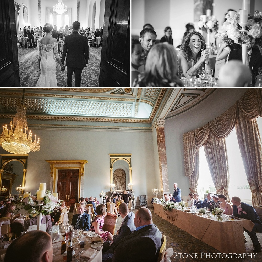 The ballroom at Wynyard Hall by Durham based wedding photographers www.2tonephotography.co.uk