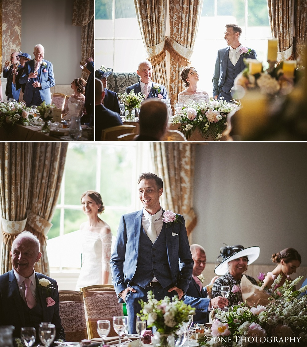 Wedding day speeches at Wynyard Hall by Durham based wedding photographers www.2tonephotography.co.uk