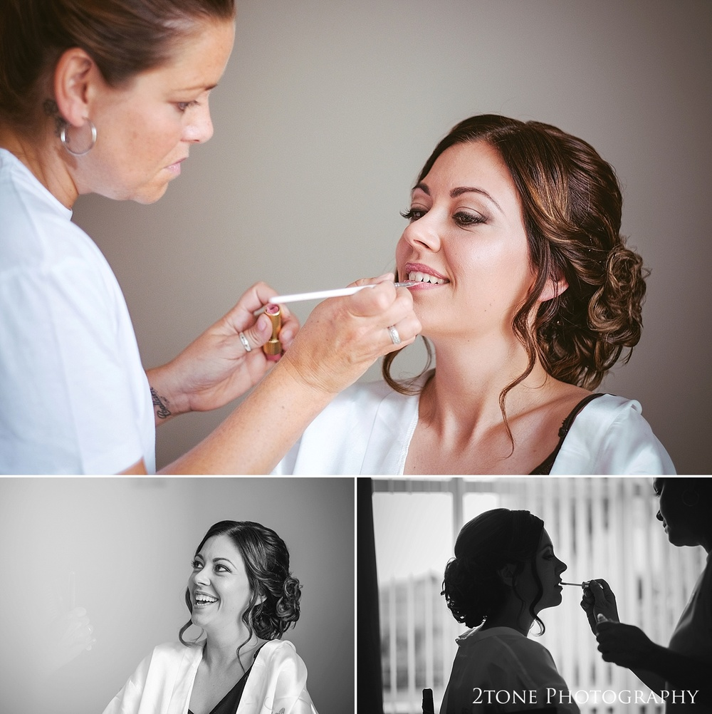 Wedding make up by wedding photographers in Durham, www.2tonephotography.co.uk