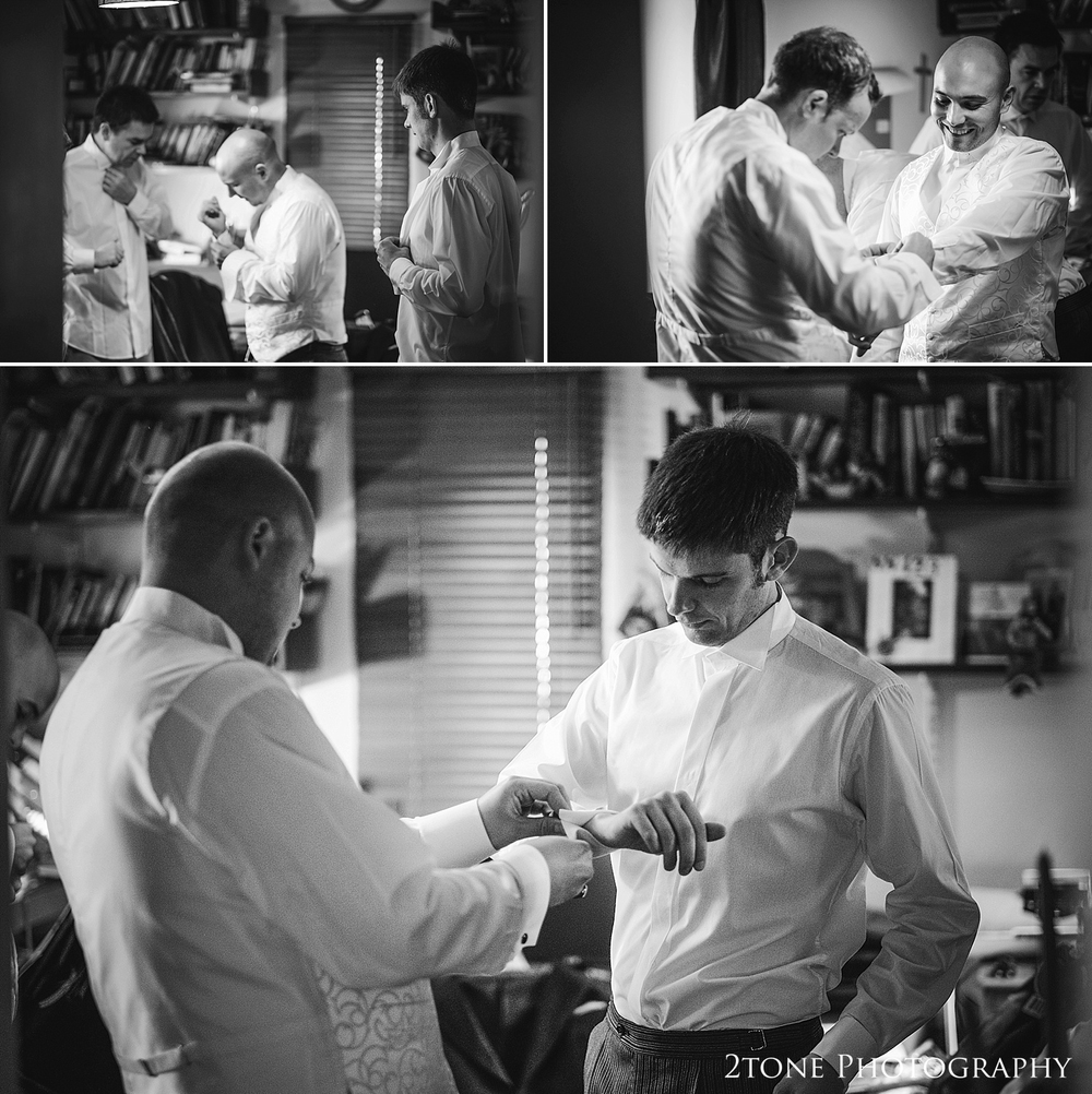 Groom getting ready by Wedding Photographers based in Durham, www.2tonephotography.co.uk
