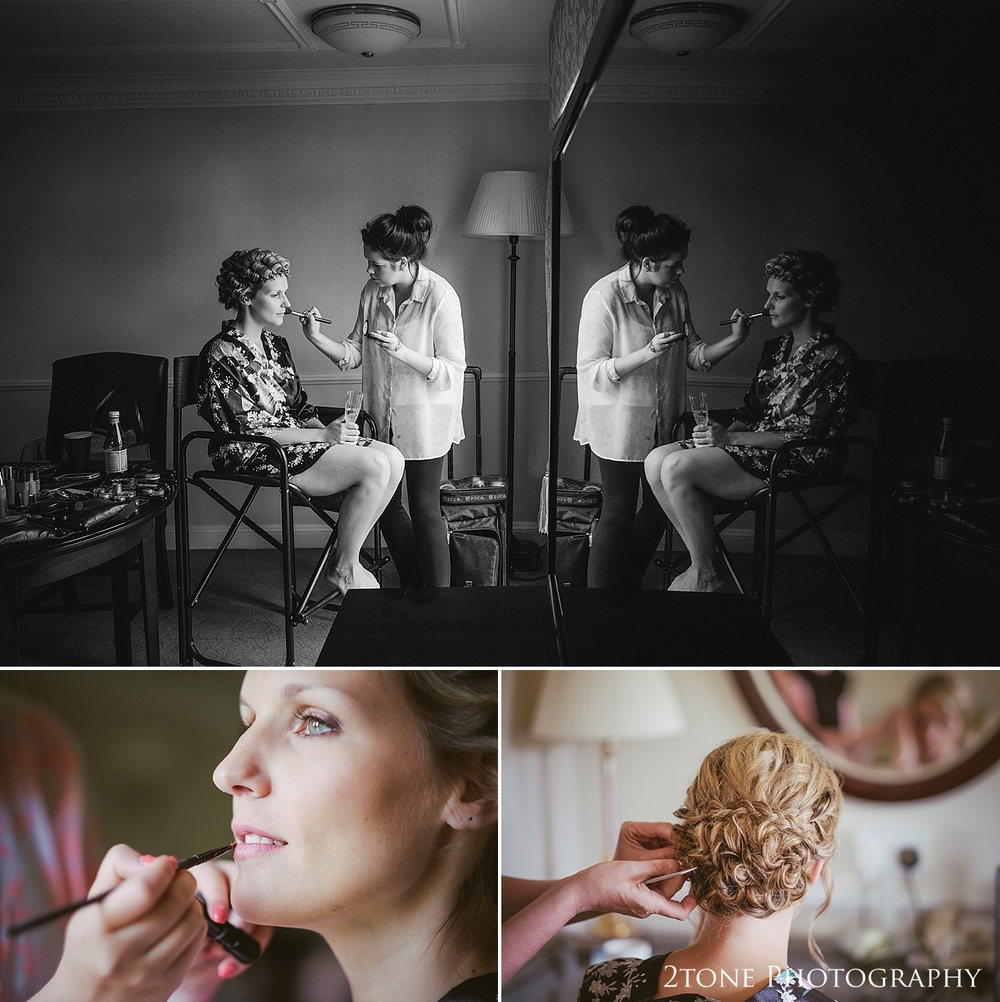Bridal preparations.  Natural wedding photography in Durham by Durham based wedding photographers www.2tonephotography.co.uk