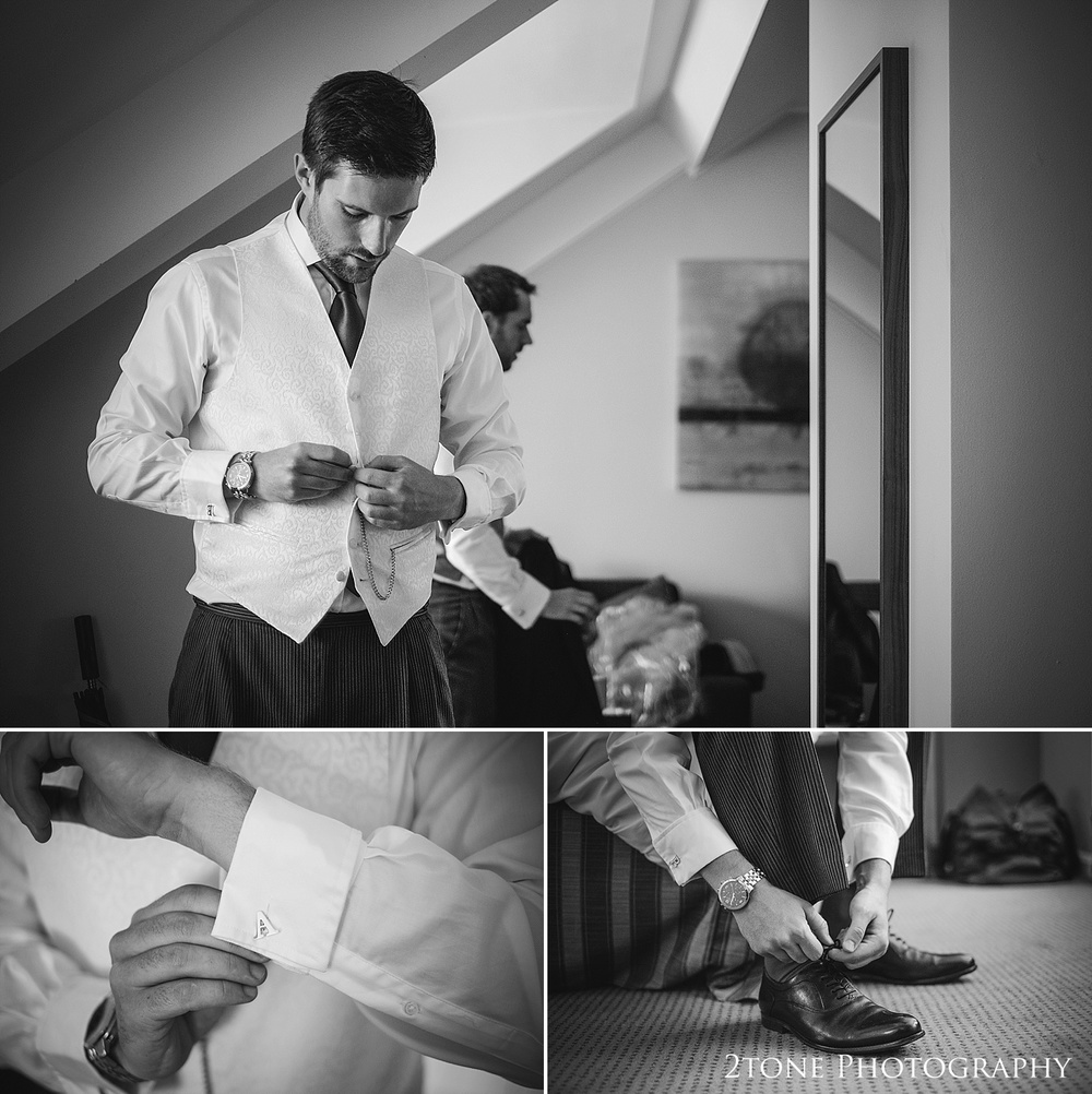 Groom getting ready.  Natural wedding photography in Durham by Durham based wedding photographers www.2tonephotography.co.uk