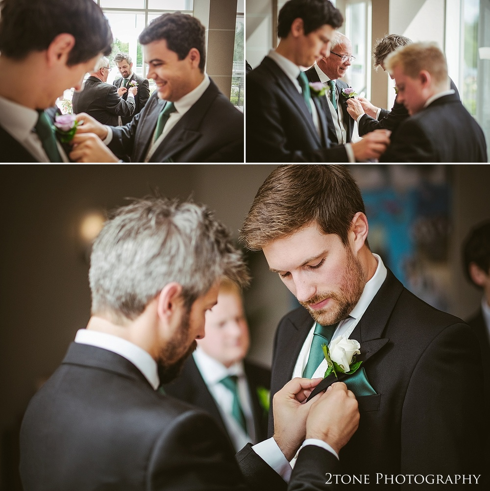 Grooms preparations.  Natural wedding photography in Durham by Durham based wedding photographers www.2tonephotography.co.uk