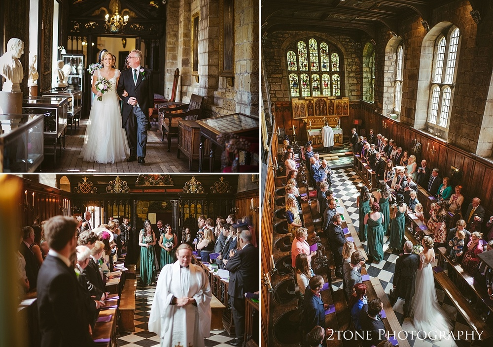 The Tunstall Chapel, Durham Castle.  Natural wedding photography in Durham by Durham based wedding photographers www.2tonephotography.co.uk