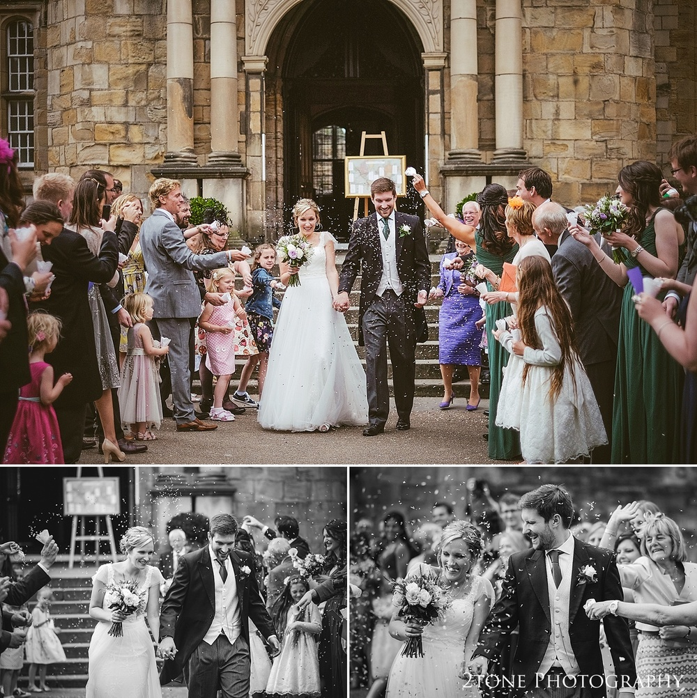 Wedding confetti.  Natural wedding photography in Durham by Durham based wedding photographers www.2tonephotography.co.uk