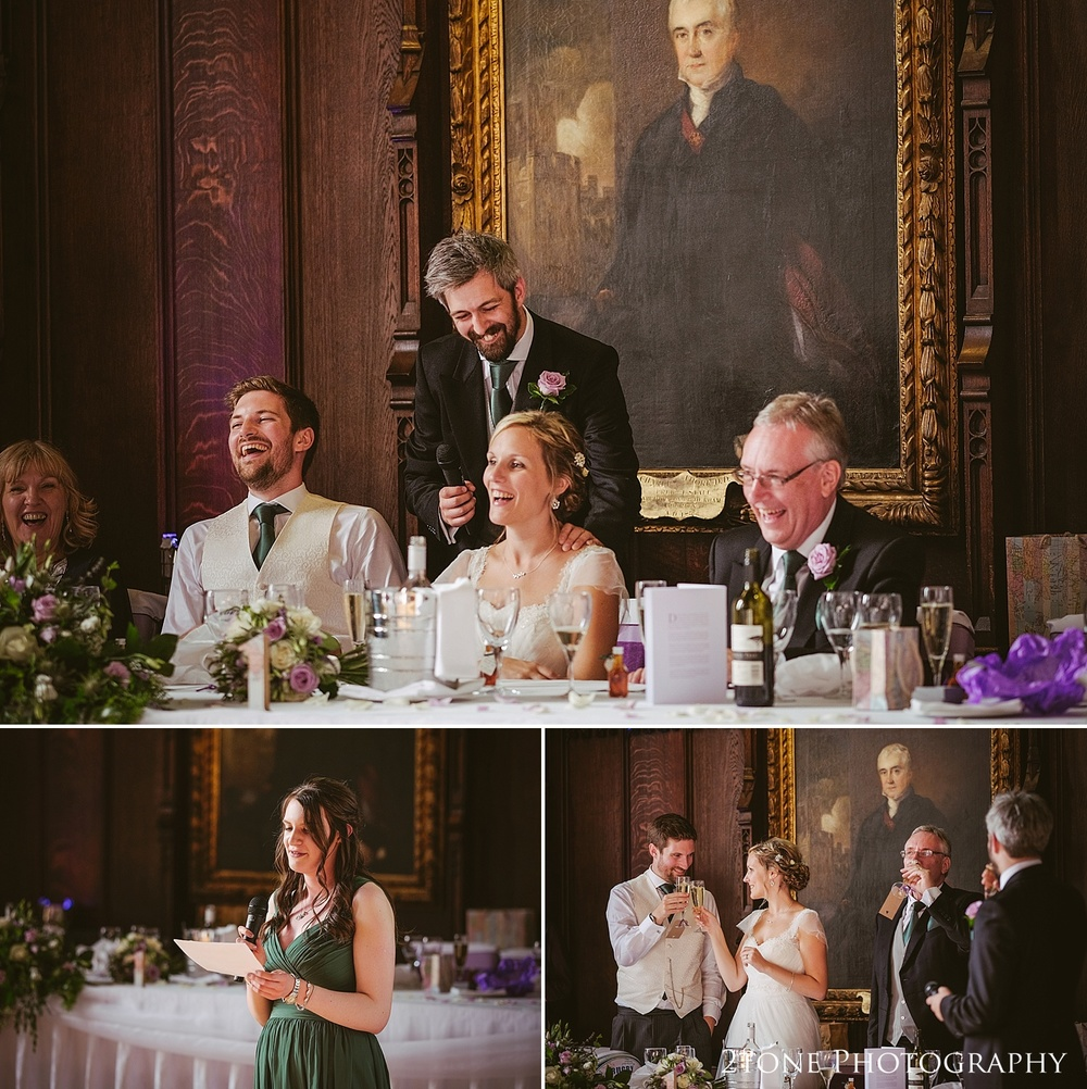 Best man's speech at Durham Castle by husband and wife team 2tone Photography www.2tonephotography.co.uk