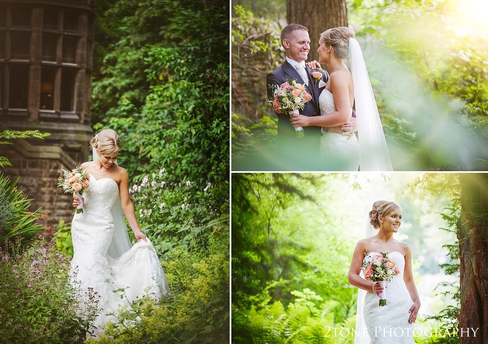Woodland wedding photographs at Jesmond Dene House in Newcastle by 2tone Photography www.2tonephotography.co.uk