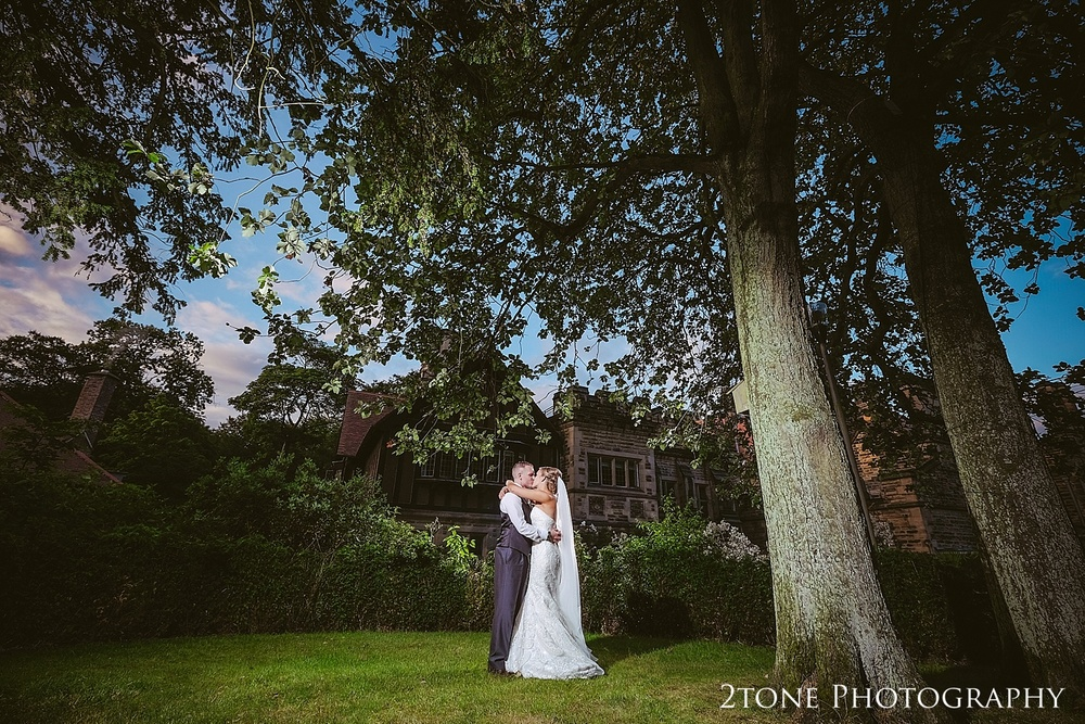 Creative wedding portrait at Jesmond Dene House in Newcastle by 2tone Photography www.2tonephotography.co.uk