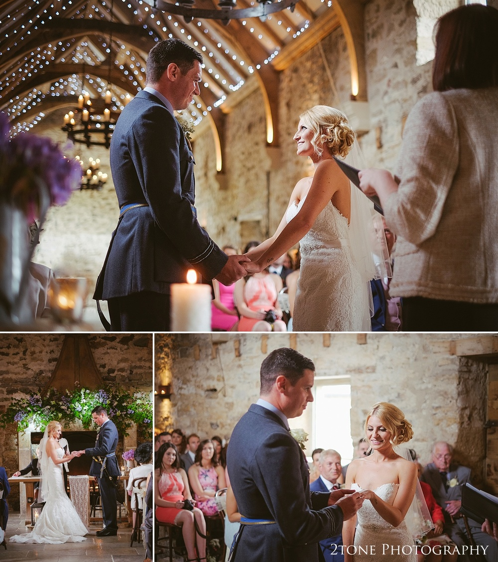 A wedding ceremony at Healey Barn by wedding photography team 2tone Photography www.2tonephotography.co.uk