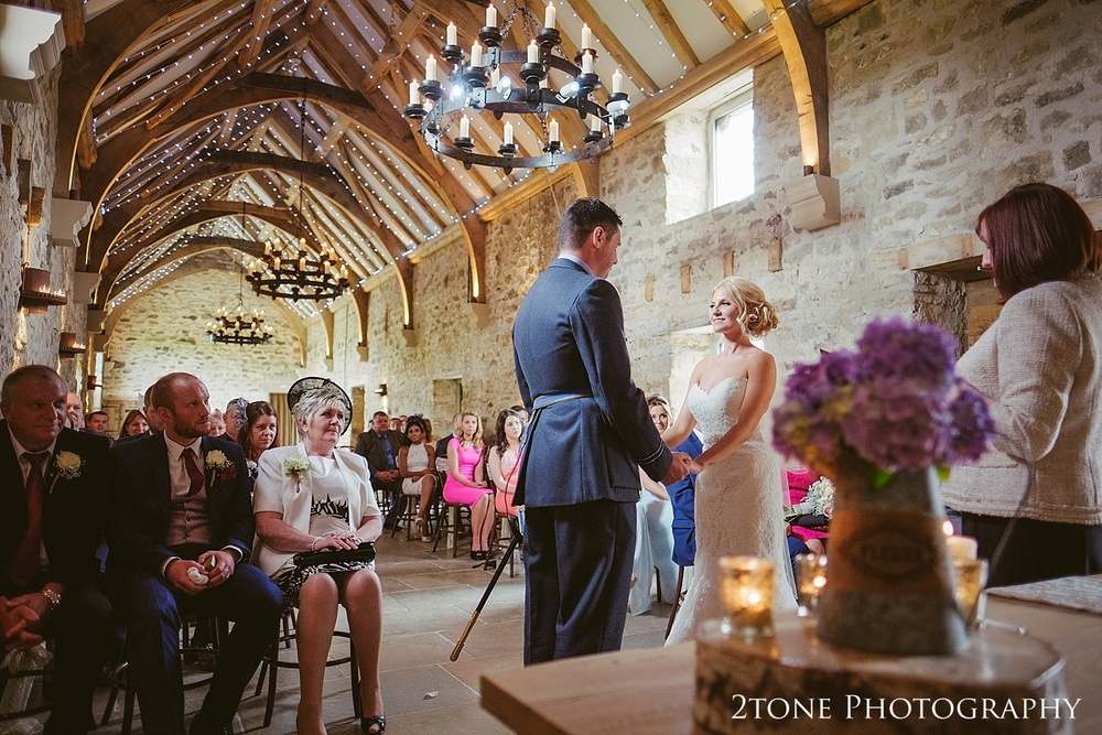 Wedding ceremony at Healey Barn by wedding photography team 2tone Photography www.2tonephotography.co.uk