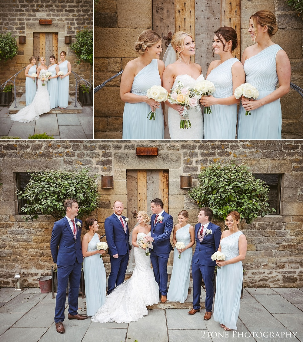 Bridal party at Healey Barn by wedding photography team, 2tone Photography www.2tonephotography.co.uk