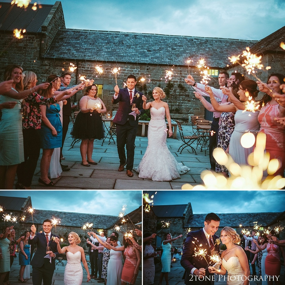 Wedding sparklers by wedding photography team, 2tone Photography www.2tonephotography.co.uk