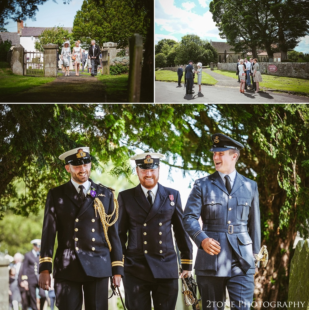 Groomsmen at Stamfordham Church.  Wedding photography at Matfen Hall by wedding photographer www.2tonephotography.co.uk