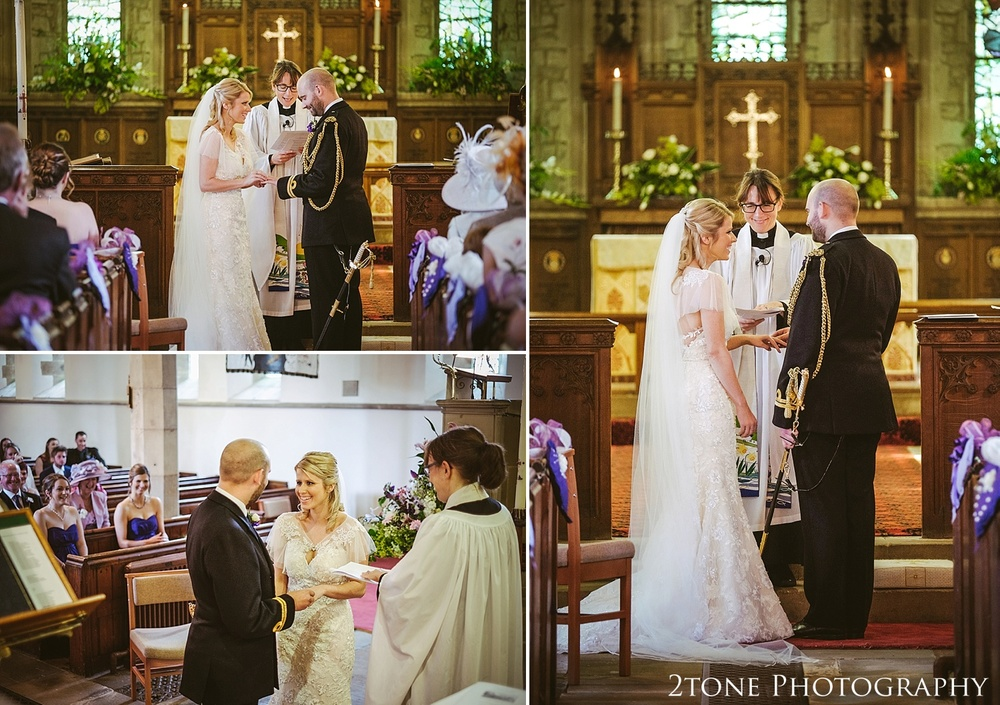Wedding ceremony in Stamfordham.  Wedding photography at Matfen Hall by wedding photographer www.2tonephotography.co.uk