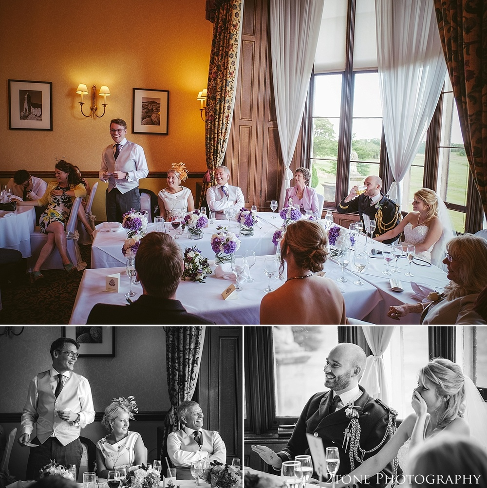 Best man's speech.  Wedding photography at Matfen Hall by wedding photographer www.2tonephotography.co.uk