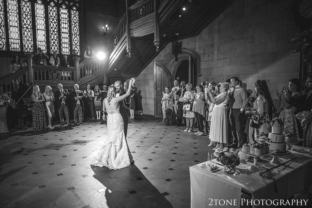 Wedding first dance.  Wedding photography at Matfen Hall by wedding photographer www.2tonephotography.co.uk