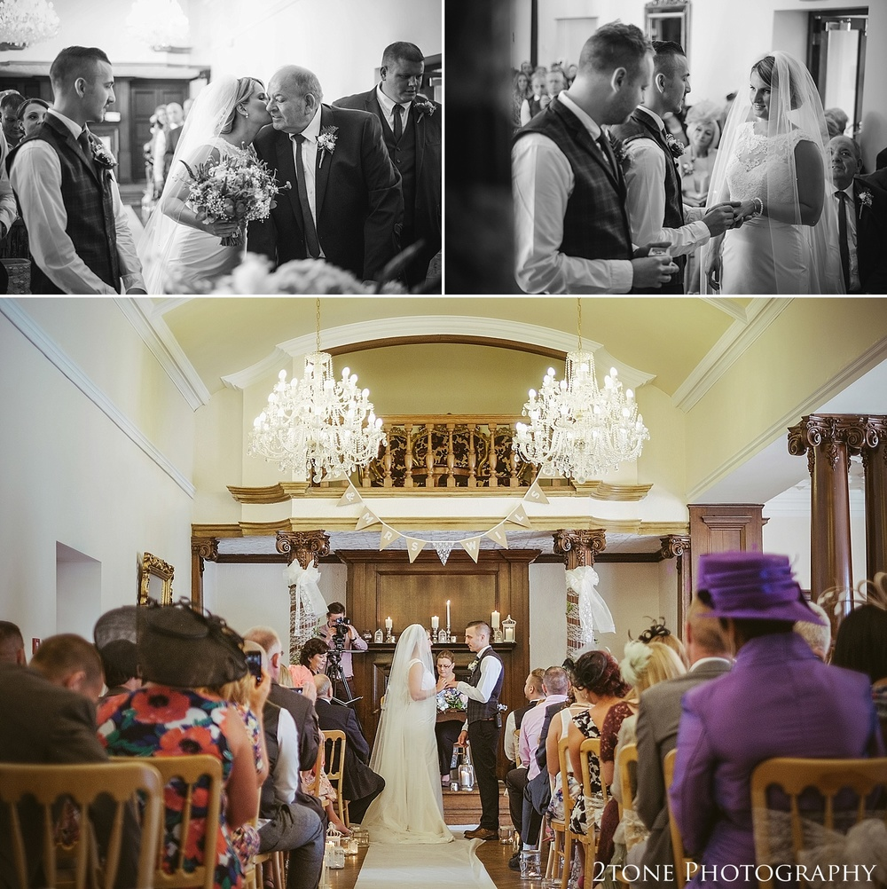 Wedding ceremony in Northumberland.  Wedding photography at Guyzance Hall by wedding photographers www.2tonephotography.co.uk