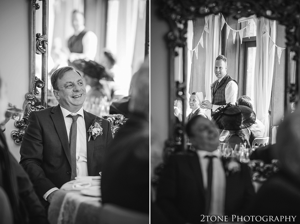 Wedding best man's speech.  Wedding photography at Guyzance Hall by wedding photographers www.2tonephotography.co.uk