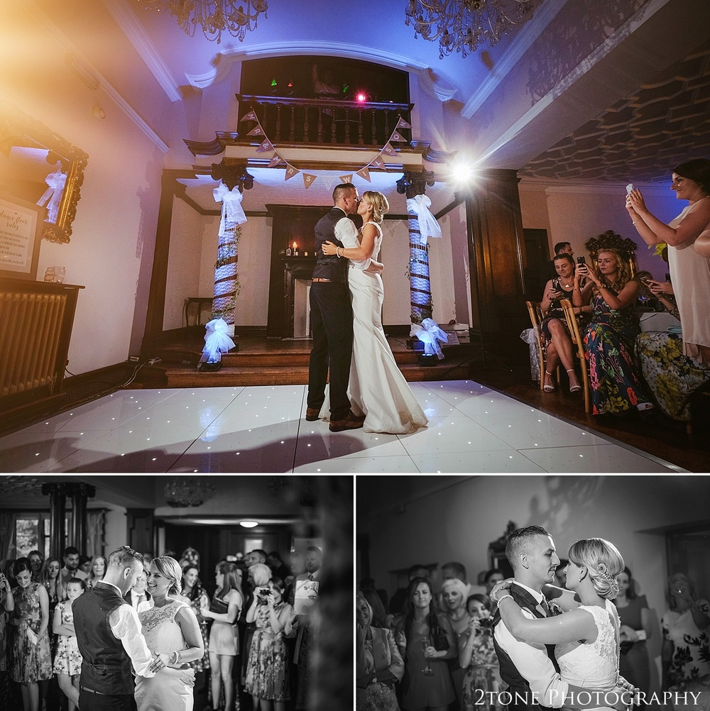 The first dance.  Wedding photography at Guyzance Hall by wedding photographers www.2tonephotography.co.uk