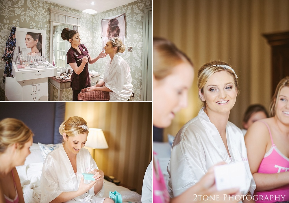 Bridal preparations.  Wedding photography at Wynyard Hall by husband and wife wedding photographers 2tone Photography www.2tonephotography.co.uk