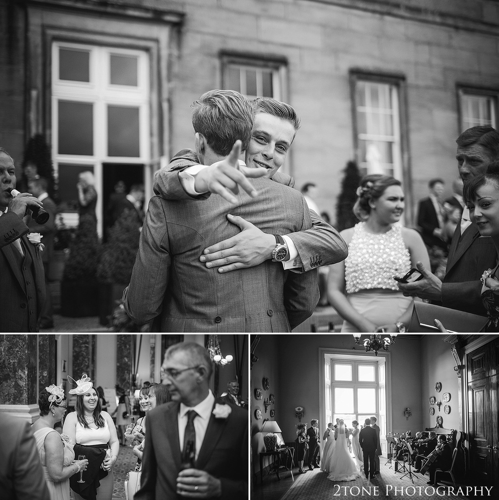 Natural wedding photographs at Wynyard Hall.  Wedding photography at Wynyard Hall by husband and wife wedding photographers 2tone Photography www.2tonephotography.co.uk