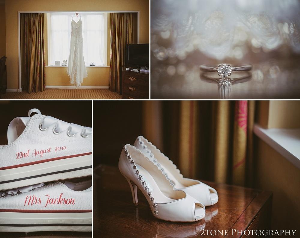 Bridal details.  Slaley Hall wedding photography by wedding photographers 2tone Photography.  www.2tonephotography.co.uk