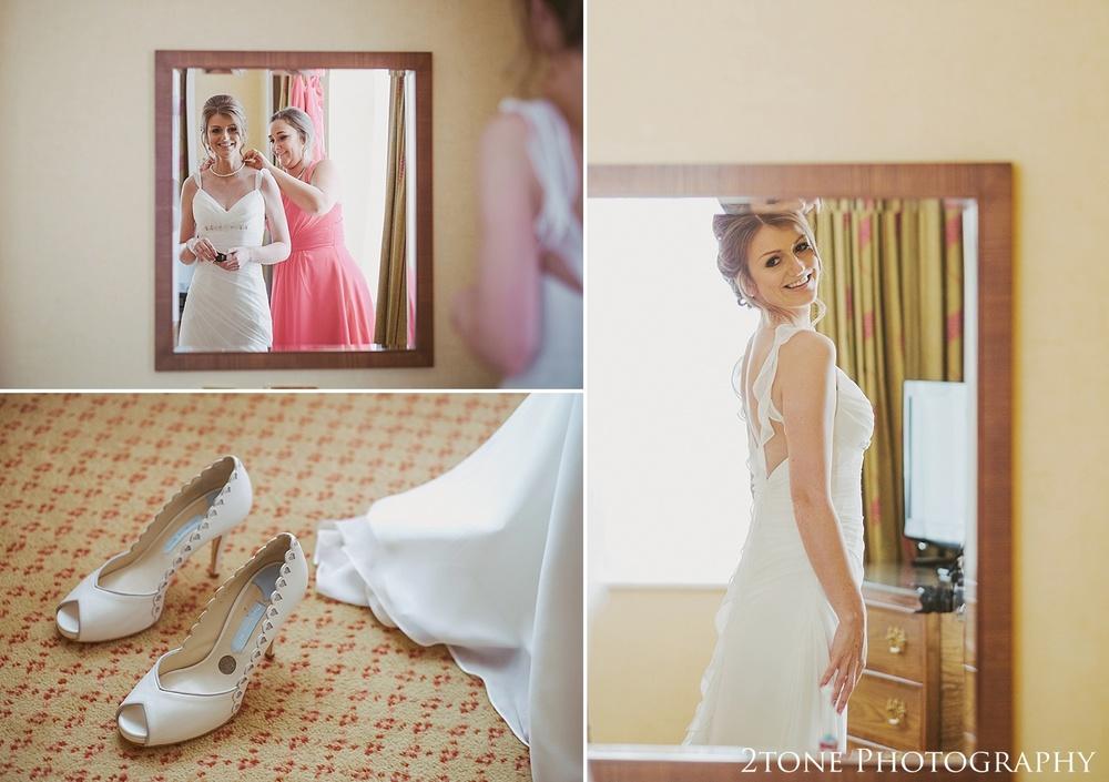 Bridal preparations at Slaley Hall wedding photography by wedding photographers 2tone Photography.  www.2tonephotography.co.uk