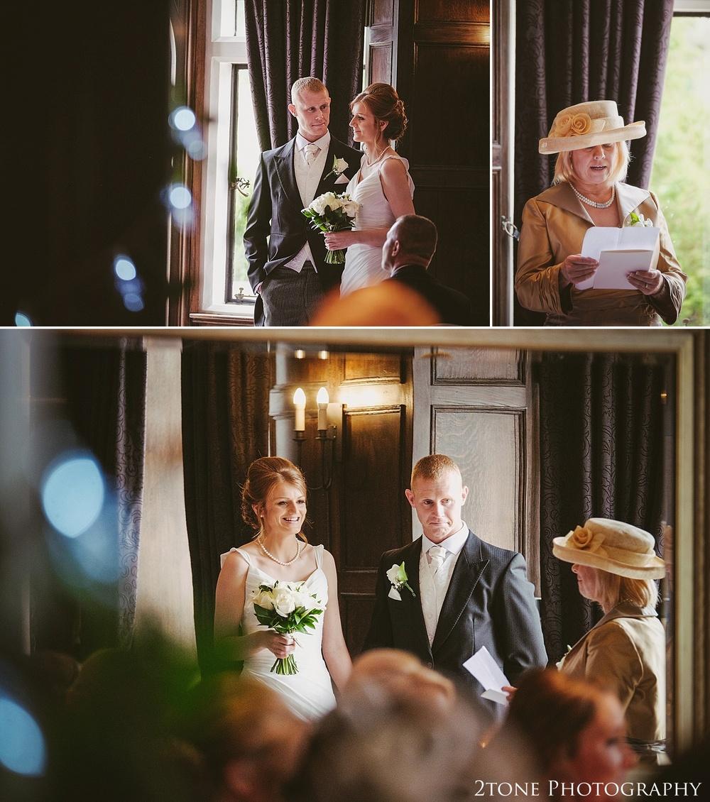 A wedding ceremony.  Slaley Hall wedding photography by wedding photographers 2tone Photography.  www.2tonephotography.co.uk